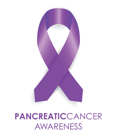 pancreatic cancer: pancreatic cancer ribbon Illustration