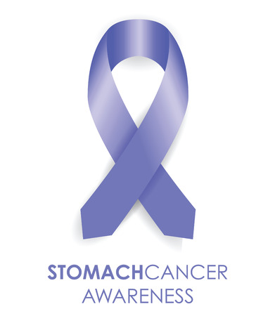 stomach cancer ribbon Illustration