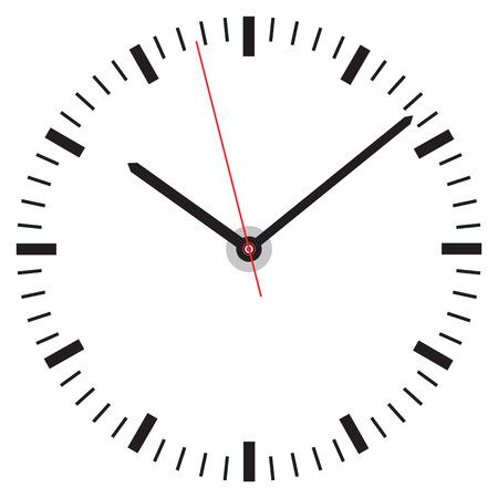 clock face Ilustrace