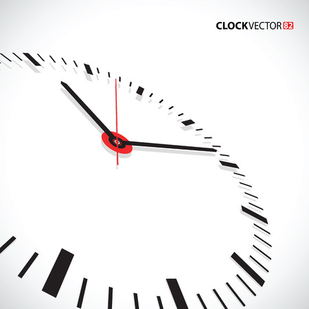 hour hand: clock face Illustration