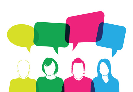 colourful people speaking Vector