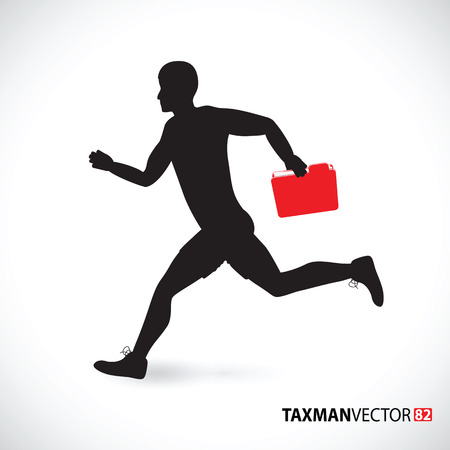 taxman: taxman running with a folder