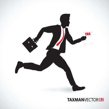 business man running Vector
