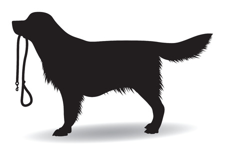 labrador retriever: dog silhouette Illustration