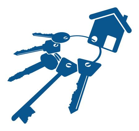 house keys: bunch of keys