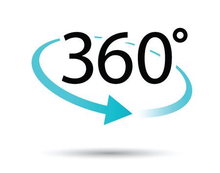360 degres pictogram Stockfoto - 34299246