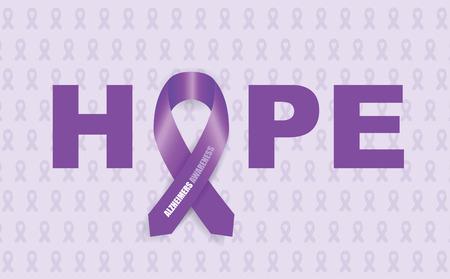 survivor: alzheimers ribbon Illustration