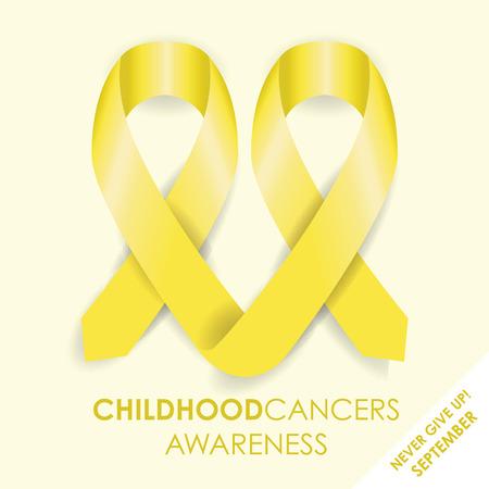 childhood cancer: childhood cancer ribbon Illustration