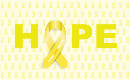 hopes: childhood cancer ribbon Illustration
