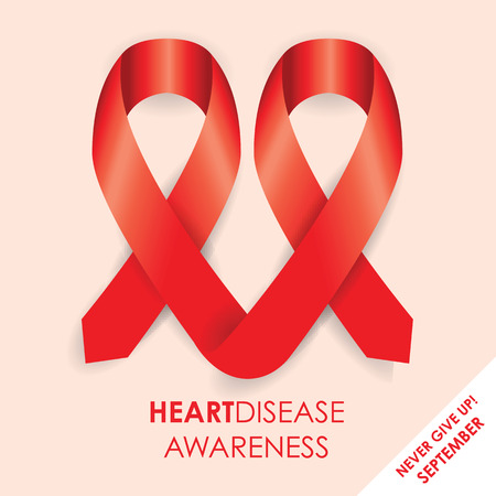 hiv awareness: heart disease ribbon Illustration