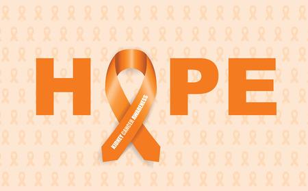 kidney cancer awareness ribbon Vector