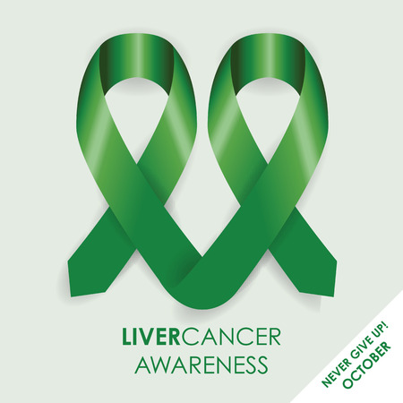 infection prevention: liver awareness cancer ribbon