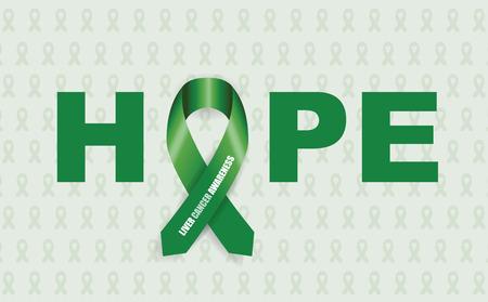 liver awareness cancer ribbon Vector