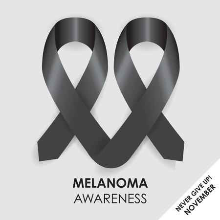melanoma: melanoma ribbon