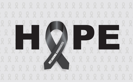melanoma: melanoma hope ribbon