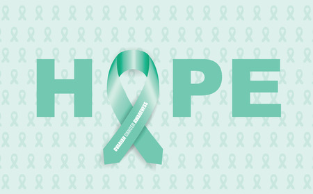awareness: ovarian cancer ribbon