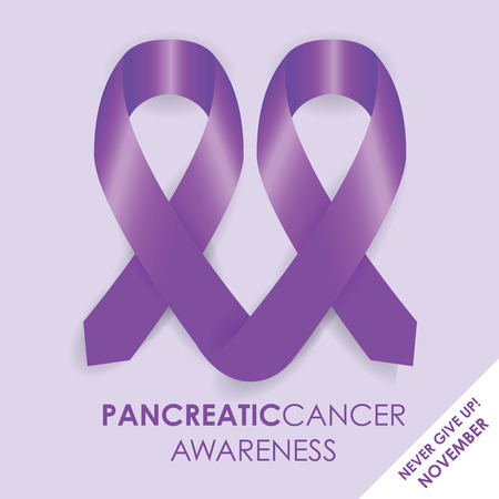 ribbin: pancreatic cancer ribbon Illustration