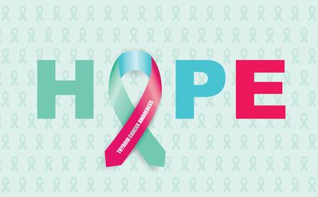 thyroid cancer: thyroid cancer ribbon