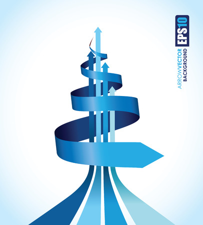 spiralling: blue spiral background Illustration