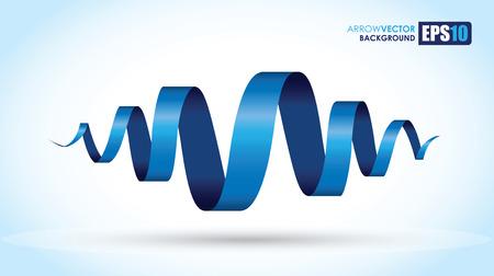 青い螺旋の背景  イラスト・ベクター素材