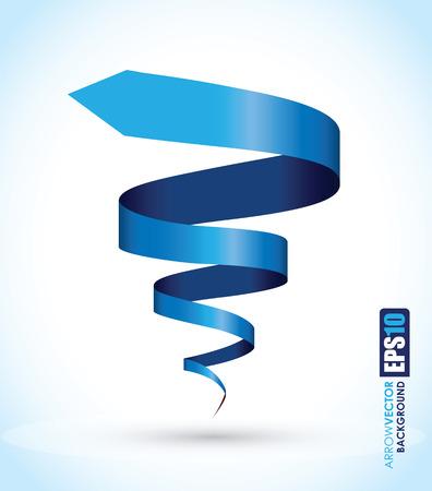 blue spiral background Stock Illustratie