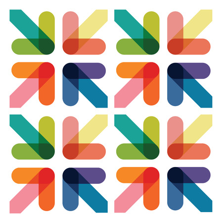 overlapping: abstract arrow background