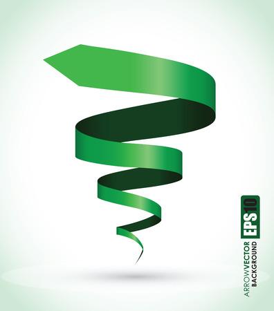 緑のスパイラルの背景