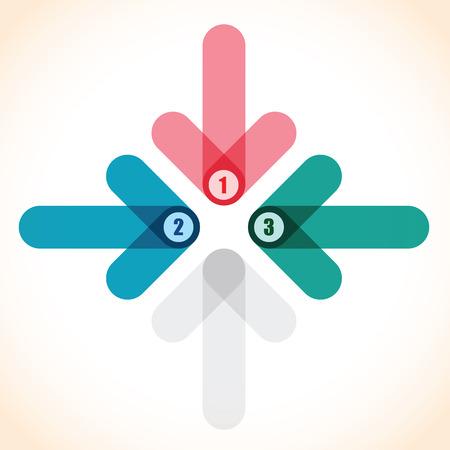 inwards: number arrow background