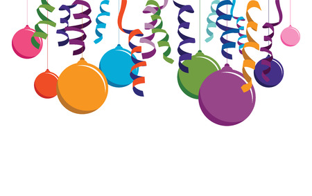 colourful balloon background banner Vector