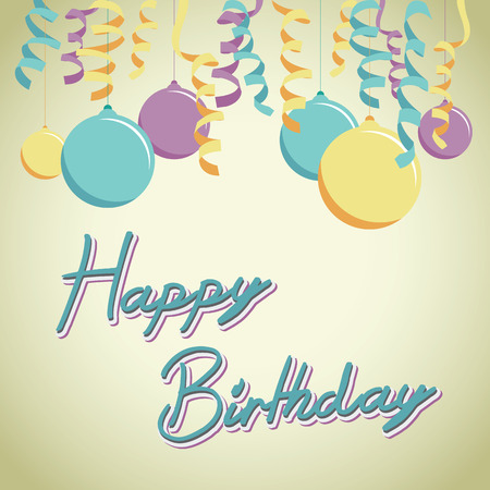happy birthday balloon background Vector
