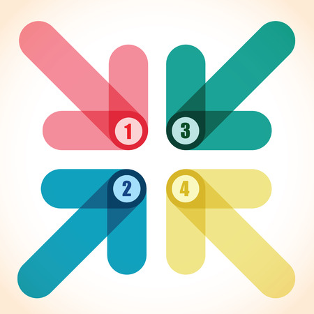 overlapping: number arrow background
