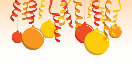 orange balloon background Vector