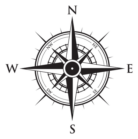 old west: compass background