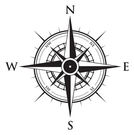 kompas: kompas na pozadí Ilustrace
