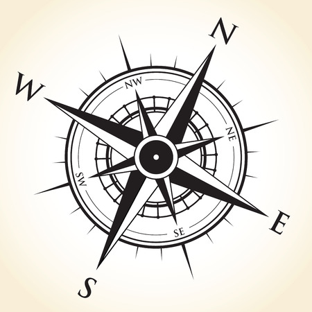 west: compass background