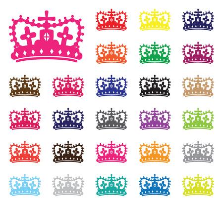 crown silhouette: corona silhouette set