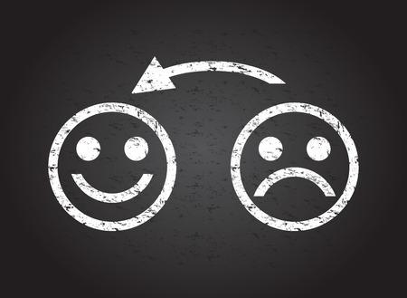 Visage triste d'un visage heureux Banque d'images - 35523512