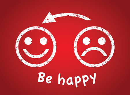 happier: sad face to a happy face