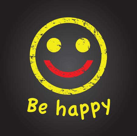 happier: happy face Illustration