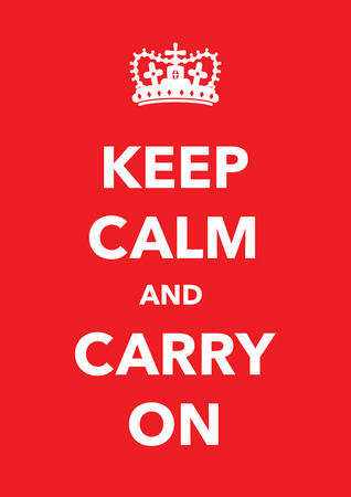 keep calm poster 일러스트
