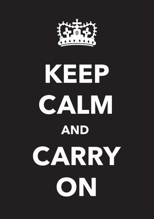 keep calm poster Ilustrace