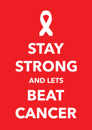 strong message: say strong beat cancer poster