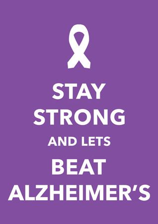 social awareness symbol: alzheimer poster