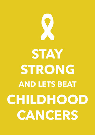 childhood cancers poster Vector