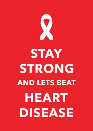fight disease: heart disease Illustration