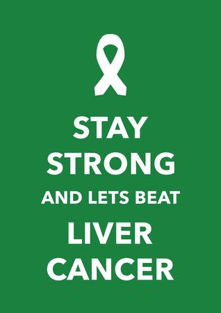 liver cancer poster Vector