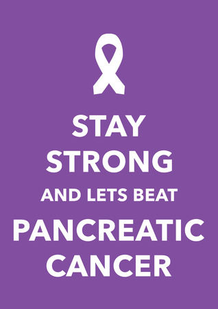pancreatic cancer poster Vector