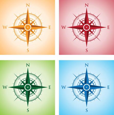 rosa de los vientos: colorido conjunto de compases