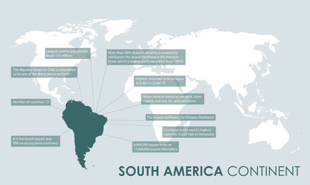 tour operator: south american continent facts Illustration