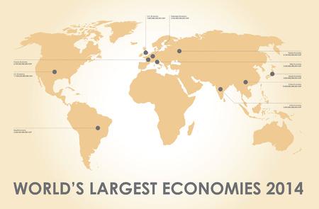 world economy: world economy background and figures Illustration